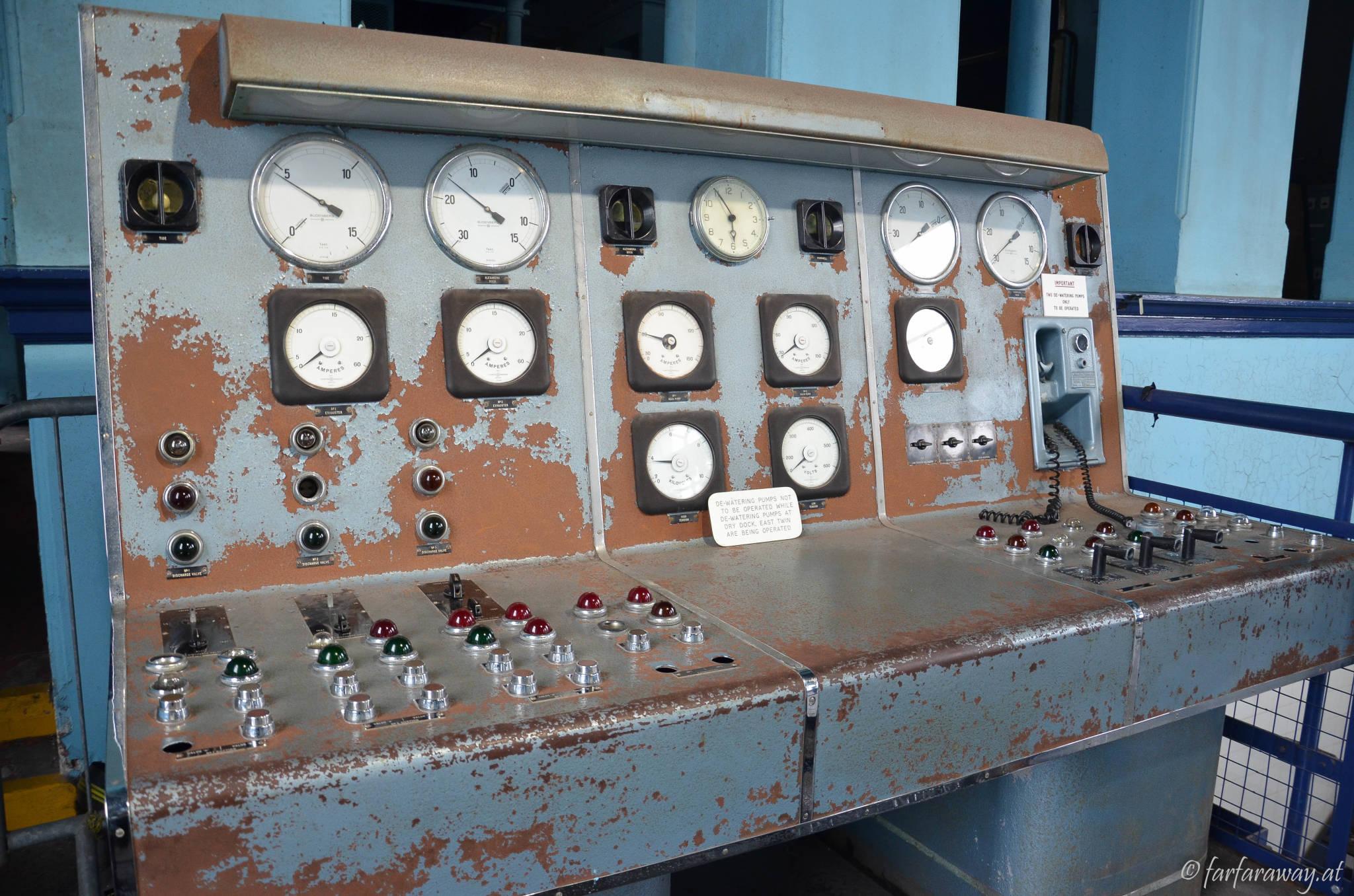 Anlage für die Wasserpumpen, Trockendock Titanic