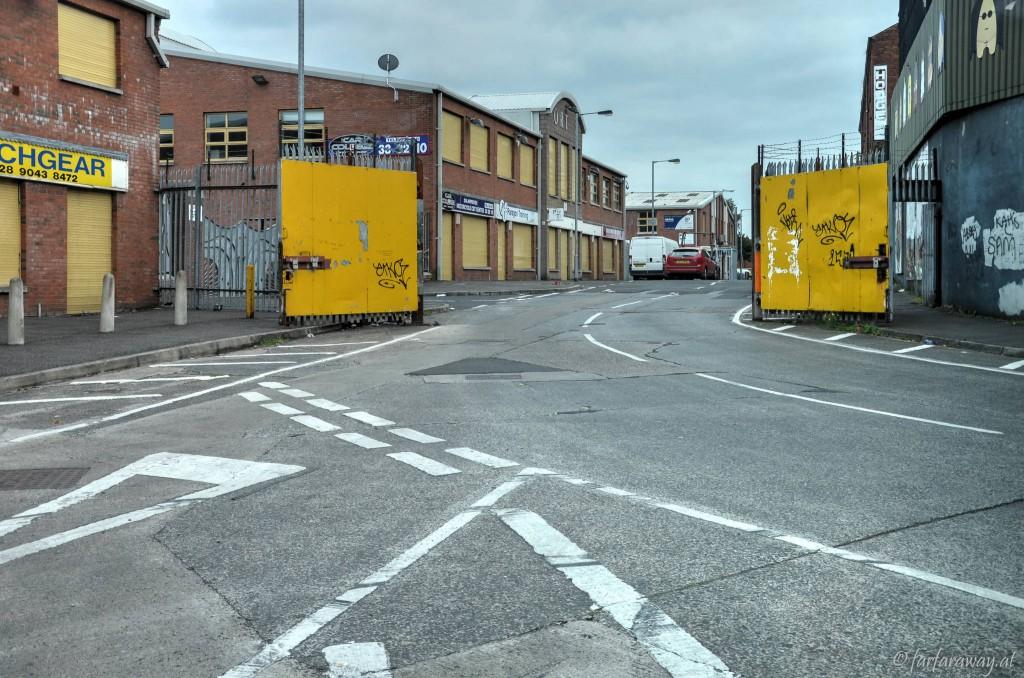 Auch heute werden die Tore noch geschlossen. Belfast