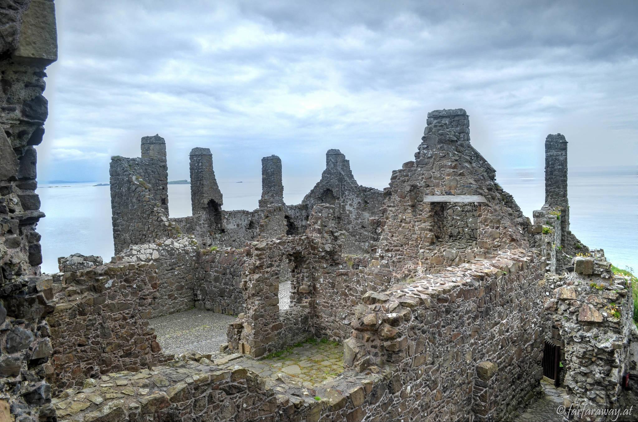 Aussicht von oben-Dunluce Castle