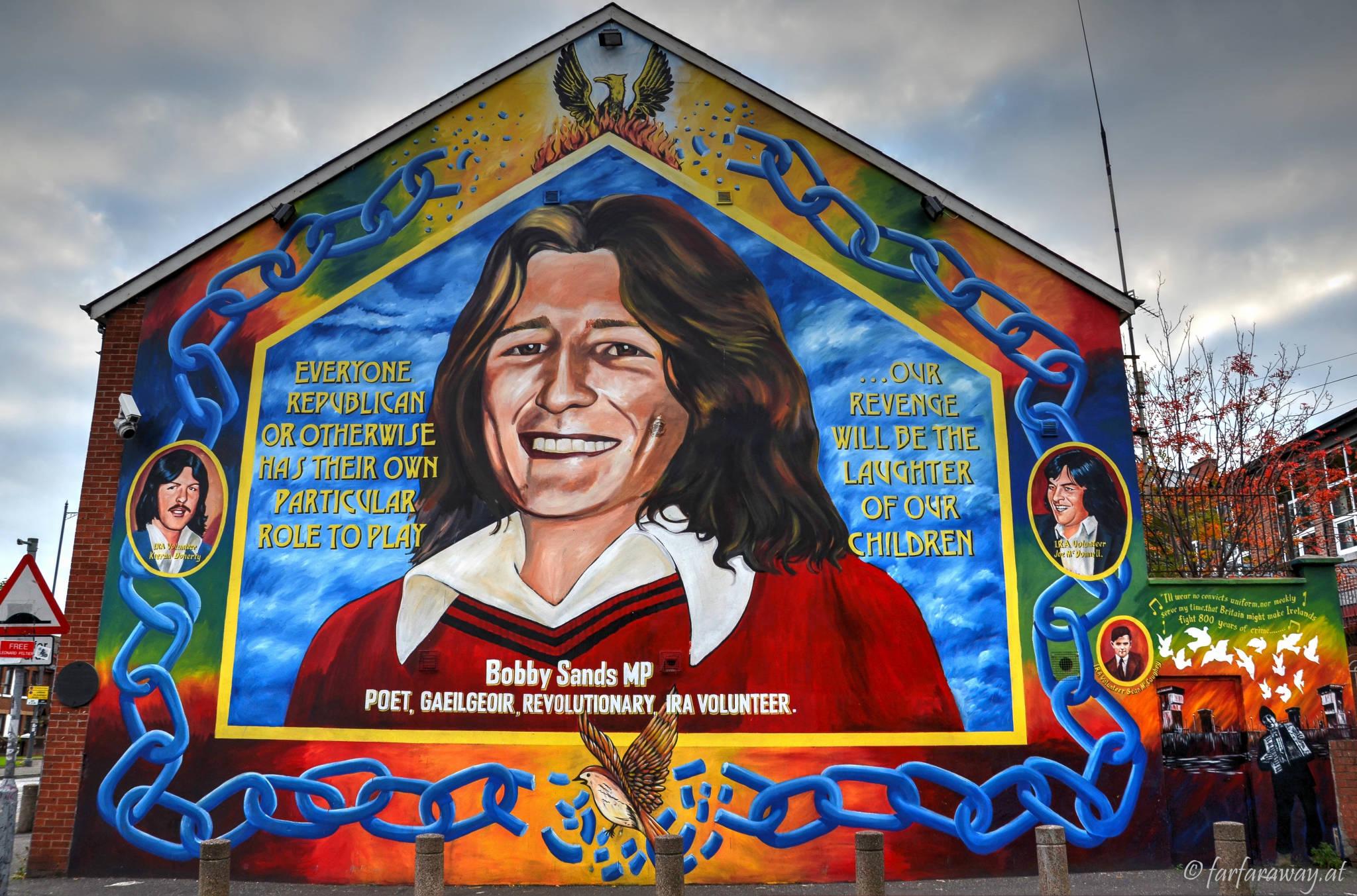 Mural, Bobby Sands MP, Belfast