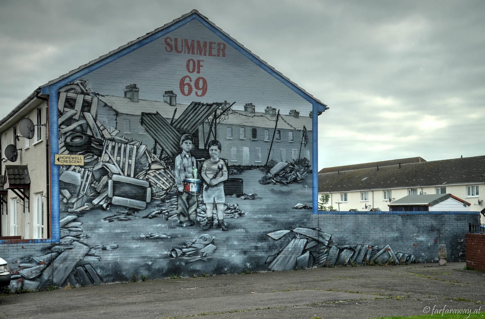 Eines der Murals in Belfast - Summer of 69