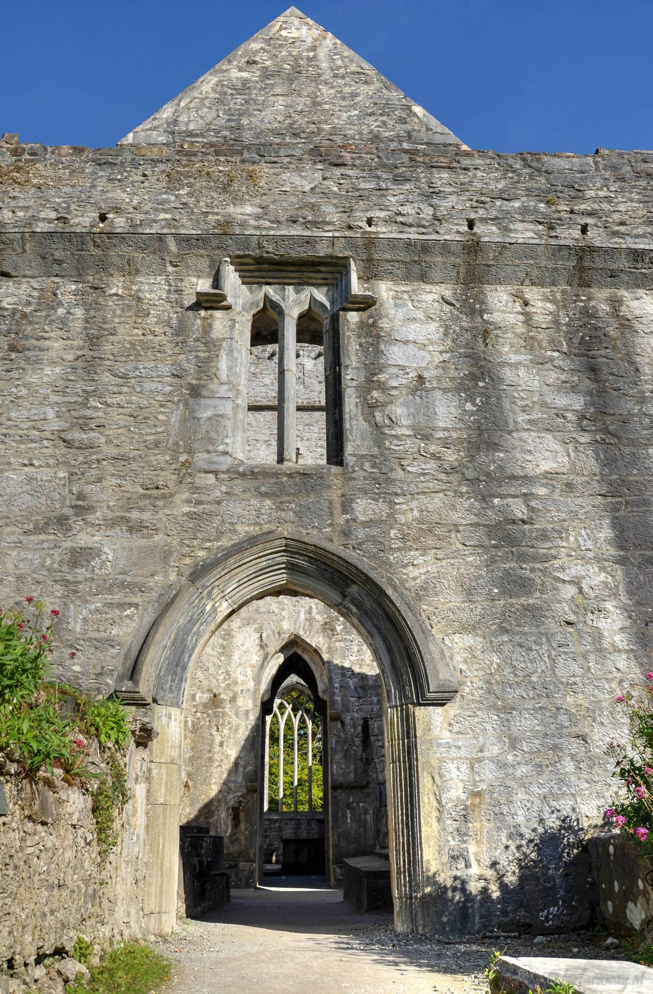 Outside view Muckross Abbey