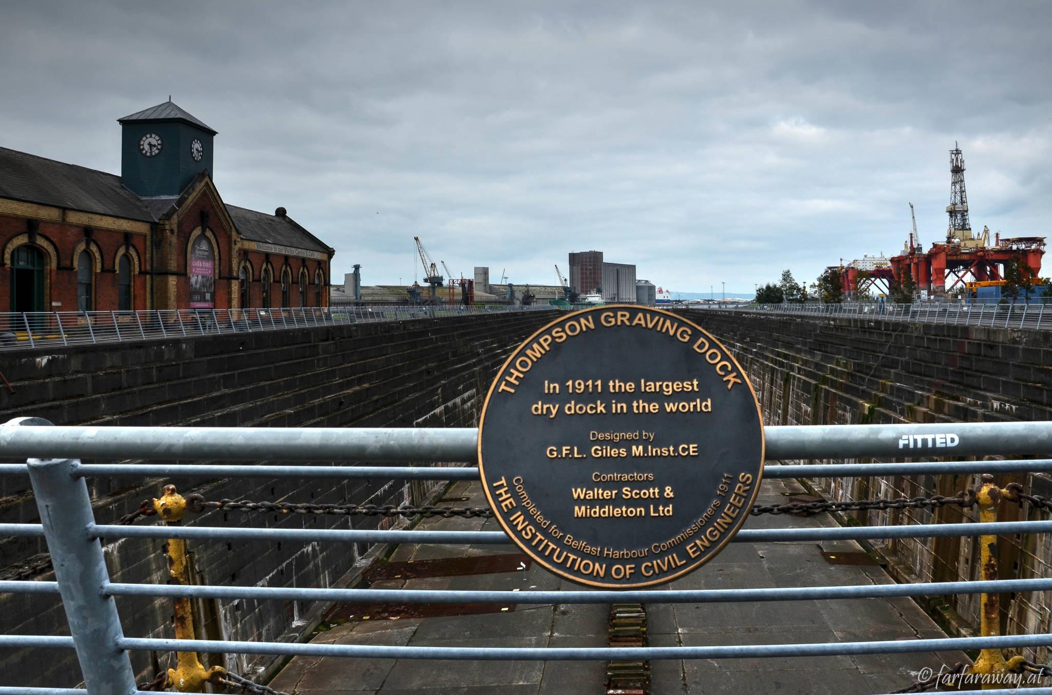Thompson Graving Dock war 1911 das größte Trockendock der Welt.