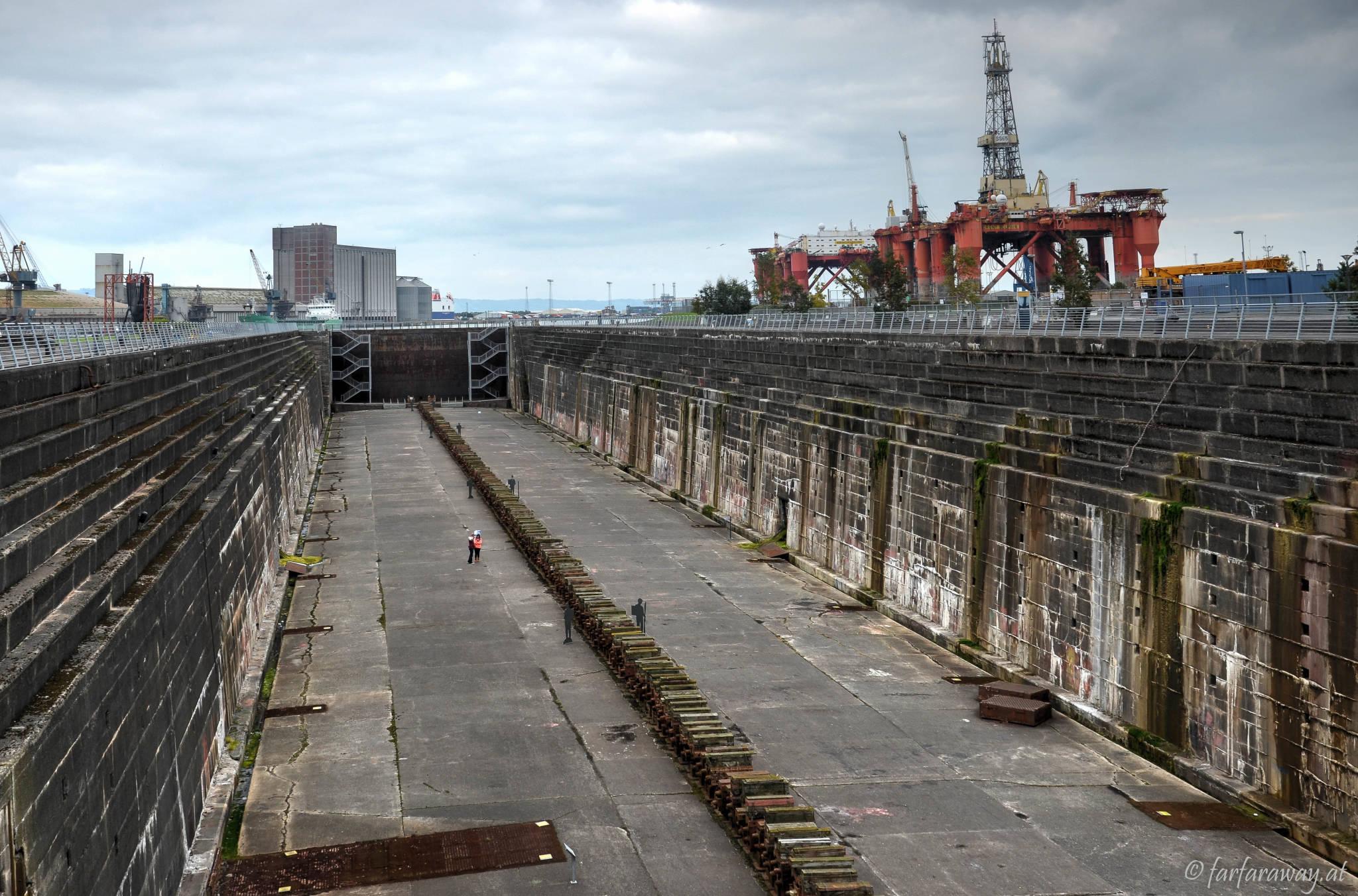 Das Thompson Graving Dock. Hier wurde die Titanic gebaut.