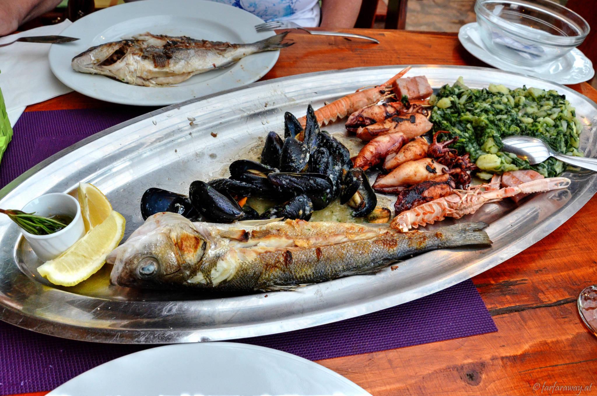 Fischplatte im Bizzarra