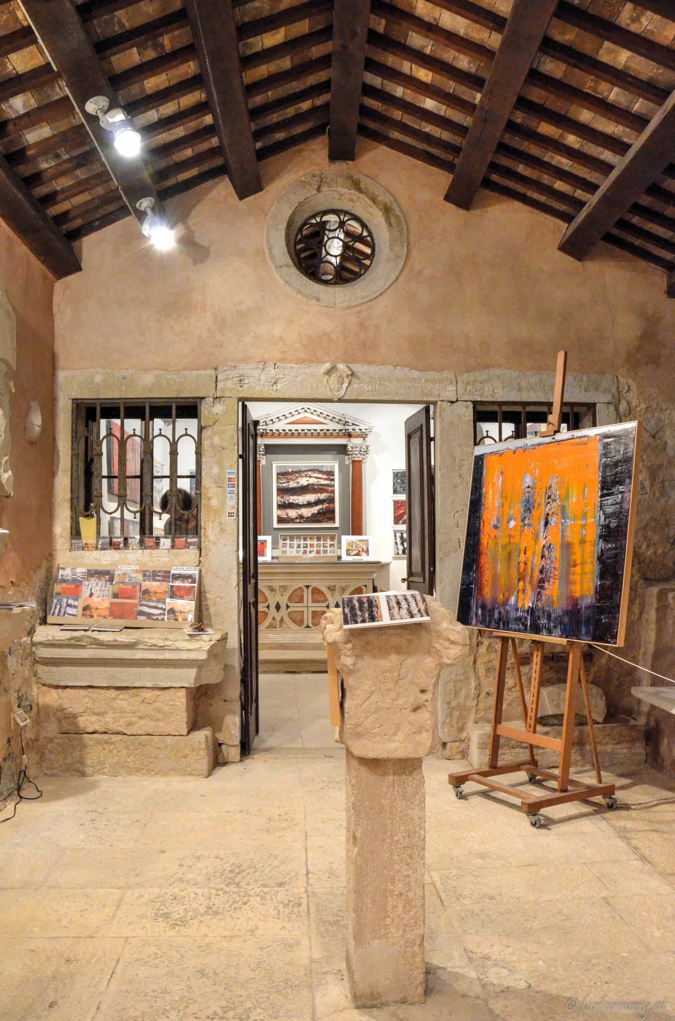 Kunst in Rovinj in einer Kirche aus dem 15.Jh