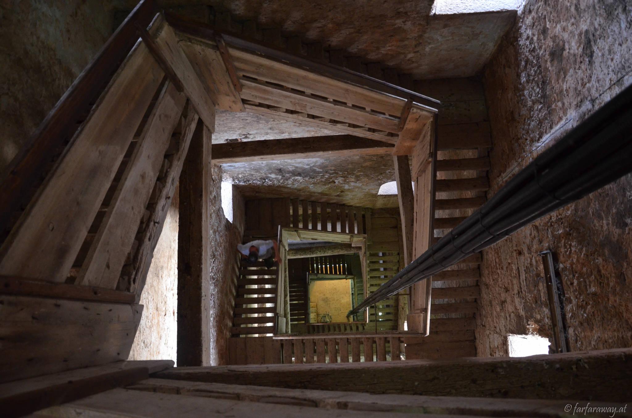 Treppe auf den Kirchturm